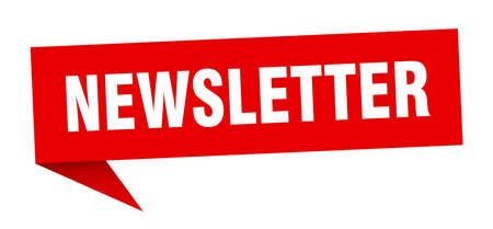 newsletter speech bubble. newsletter sign. newsletter banner Illustration