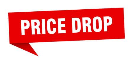 price drop speech bubble. price drop sign. price drop banner