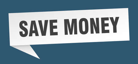 save money speech bubble. save money sign. save money banner Ilustrace