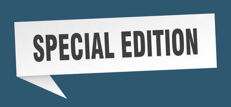 special edition speech bubble. special edition sign. special edition banner