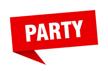 party speech bubble. party sign. party banner