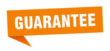 guarantee speech bubble. guarantee sign. guarantee banner