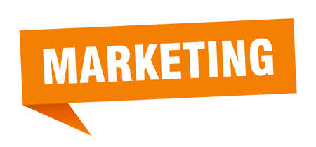 marketing speech bubble. marketing sign. marketing banner Illustration