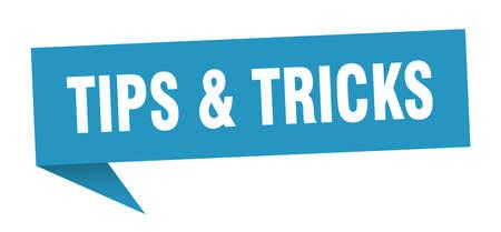 tips & tricks speech bubble. tips & tricks sign. tips & tricks banner