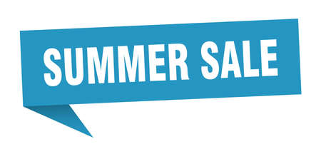 summer sale speech bubble. summer sale sign. summer sale banner Ilustrace
