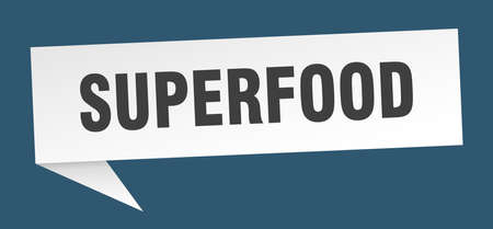 superfood speech bubble. superfood sign. superfood banner
