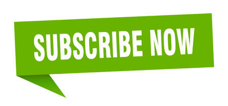 subscribe now speech bubble. subscribe now sign. subscribe now banner Illustration