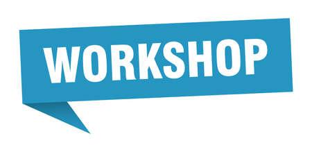 workshop speech bubble. workshop sign. workshop banner Illustration