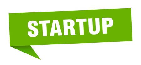 startup speech bubble. startup sign. startup banner