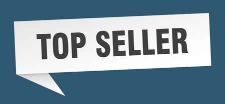 top seller speech bubble. top seller sign. top seller banner