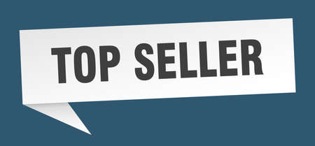 top seller speech bubble. top seller sign. top seller banner