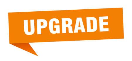 upgrade speech bubble. upgrade sign. upgrade banner Illustration
