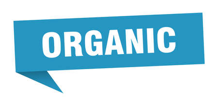 organic speech bubble. organic sign. organic banner