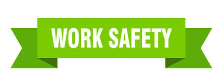 work safety ribbon. work safety isolated sign. work safety banner Ilustrace