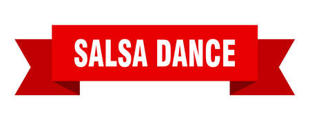 salsa dance ribbon. salsa dance isolated sign. salsa dance banner Ilustrace