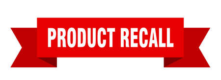 product recall ribbon. product recall isolated sign. product recall banner