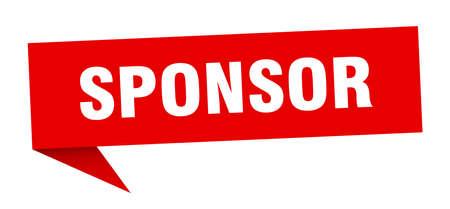 sponsor speech bubble. sponsor sign. sponsor banner
