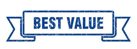 best value grunge ribbon. best value sign. best value banner
