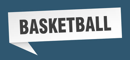 basketball speech bubble. basketball sign. basketball banner