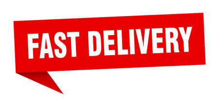 fast delivery speech bubble. fast delivery sign. fast delivery banner