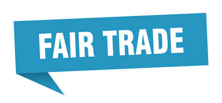 fair trade speech bubble. fair trade sign. fair trade banner Illustration