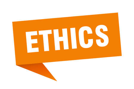 ethics speech bubble. ethics sign. ethics banner