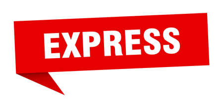 express speech bubble. express sign. express banner