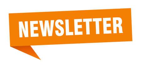 newsletter speech bubble. newsletter sign. newsletter banner Çizim