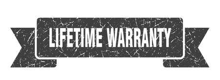 lifetime warranty grunge ribbon. lifetime warranty sign. lifetime warranty banner Stock Vector - 124989127
