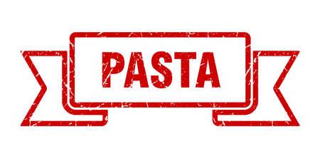 pasta grunge ribbon. pasta sign. pasta banner