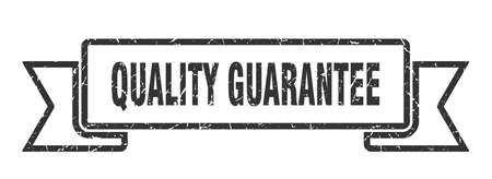 quality guarantee grunge ribbon. quality guarantee sign. quality guarantee banner Иллюстрация
