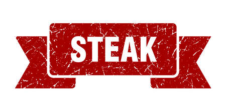 steak grunge ribbon. steak sign. steak banner