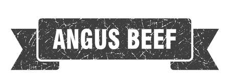 angus beef grunge ribbon. angus beef sign. angus beef banner