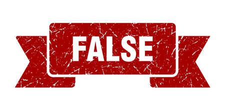 false grunge ribbon. false sign. false banner