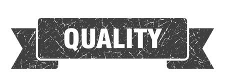 quality grunge ribbon. quality sign. quality banner Иллюстрация