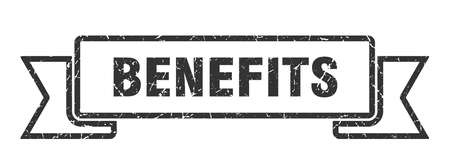 benefits grunge ribbon. benefits sign. benefits banner