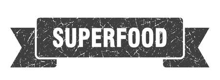 superfood grunge ribbon. superfood sign. superfood banner