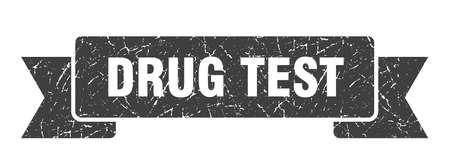 drug test grunge ribbon. drug test sign. drug test banner Illustration