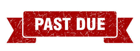 past due grunge ribbon. past due sign. past due banner