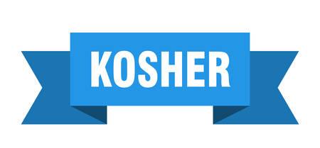 kosher ribbon. kosher isolated sign. kosher banner