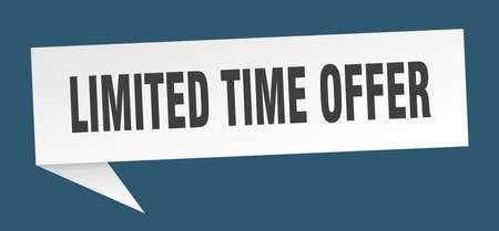 limited time offer speech bubble. limited time offer sign. limited time offer banner Ilustrace
