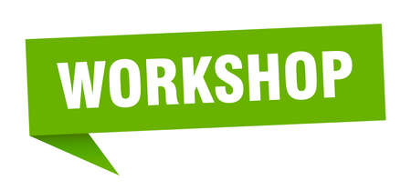 workshop speech bubble. workshop sign. workshop banner Archivio Fotografico - 125066522