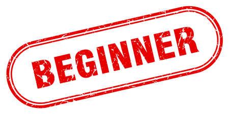 beginner stamp. beginner square grunge sign. beginner