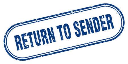 return to sender stamp. return to sender square grunge sign. return to sender Stockfoto - 125421851