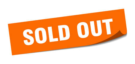 sold out square sticker. sold out sign. sold out banner Illustration