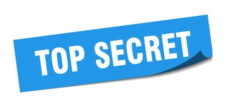 top secret square sticker. top secret sign. top secret banner Illustration