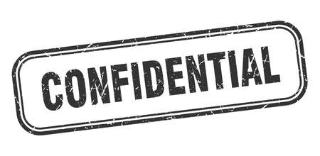 confidential square grunge isolated stamp. confidential sign Illustration