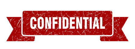 confidential ribbon grunge isolated sign. confidential stamp Illustration