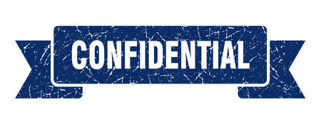 confidential ribbon grunge isolated stamp. confidential sign