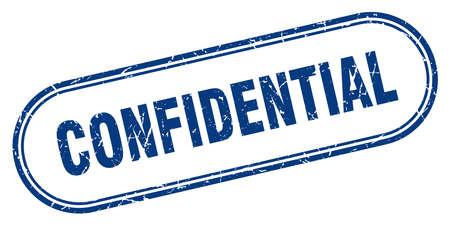 confidential stamp. confidential square grunge sign. confidential Illustration